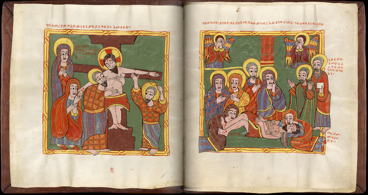 Ethiopian Sacred Book, The Deposition And Lamentation