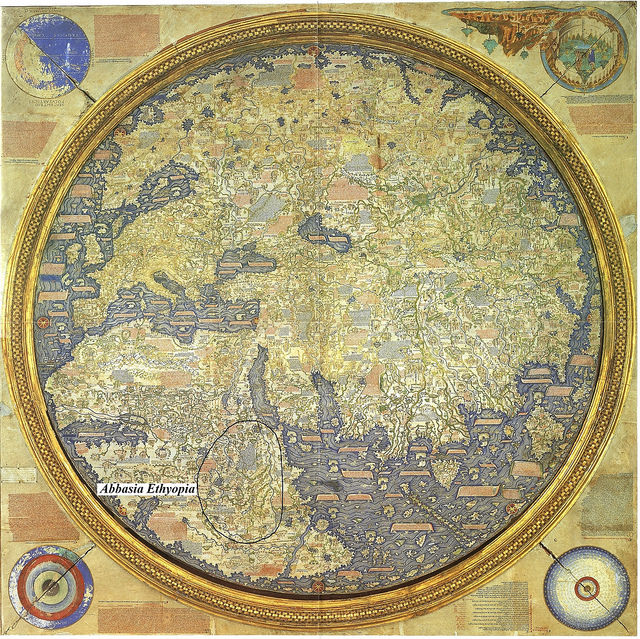 Abyssinia The Map Is Inverted From Its Original
