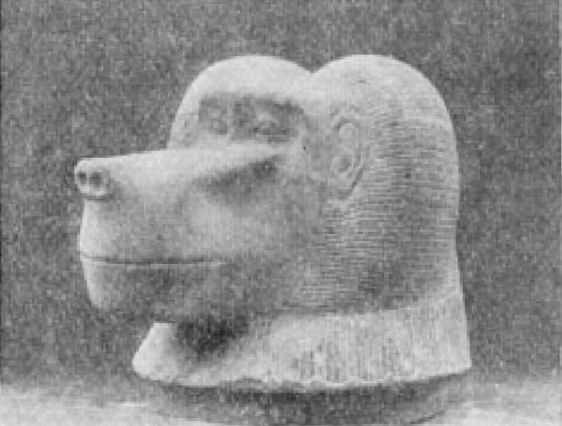 "Alabaster Ape\'s Head, Lid Of Canopic Jar, "" Figures And Models Of Bricks, Made Of Mud, And A Blue"