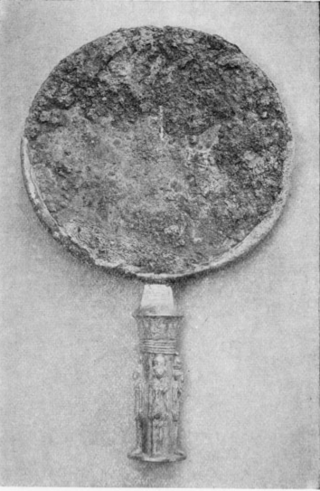 Bronze Mirror, With Silver Handle, Of King Nastasan,