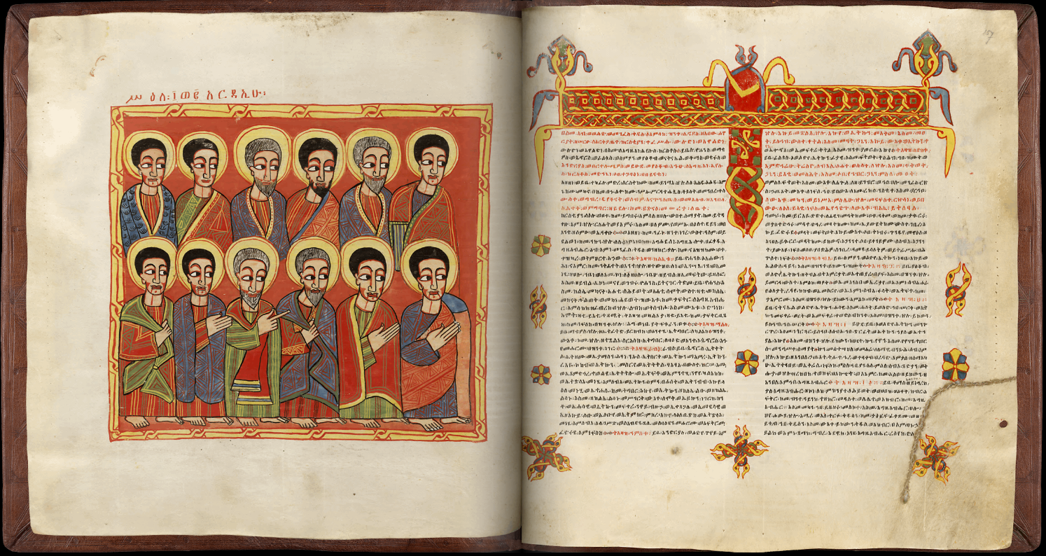 Ethiopian Sacred Book, The Twelve Apostles And The Synodicon