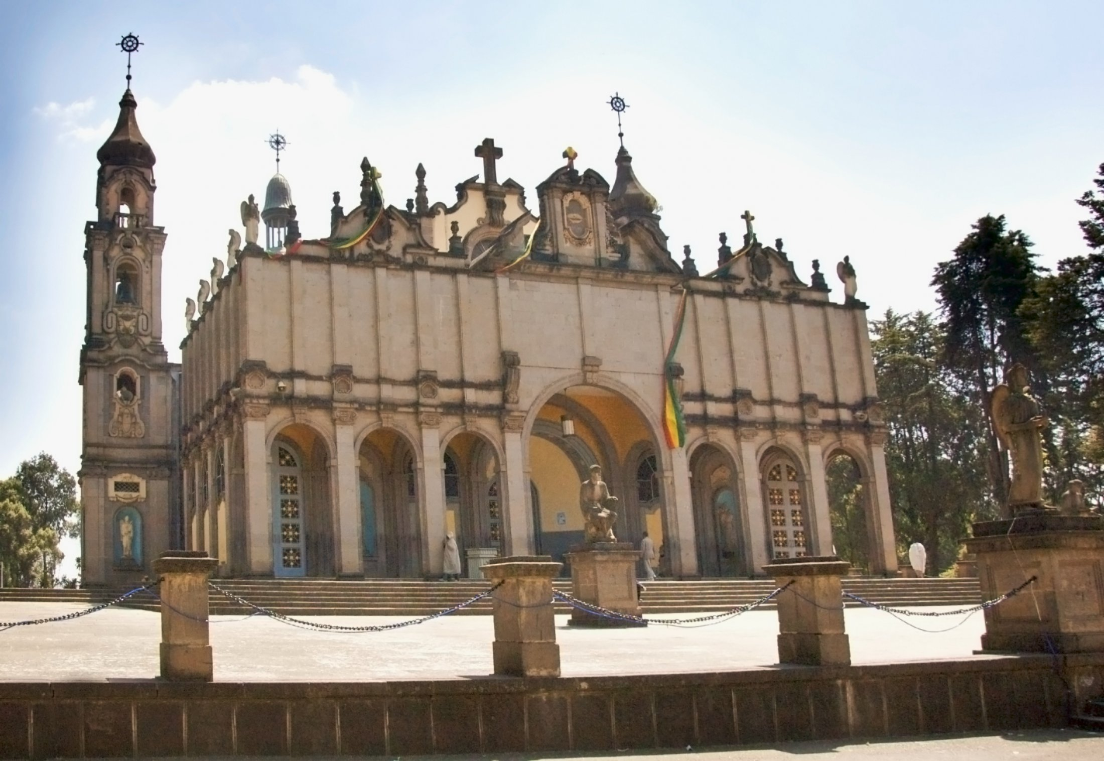 Panoramic View Of The Holy Trinity Cathedral, Addis Ababa, Ethiopia (3435906326)