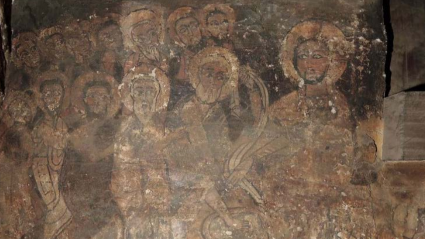 the figural wall-paintings may  have been created somewhat later in that  century, which means that they are the oldest  wall-paintings known so-far in Ethiopia. Image CHWB