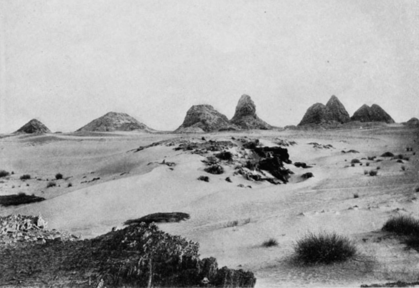 "The Nuri Pyramids, Seen From The "" North"" (down-stream)"