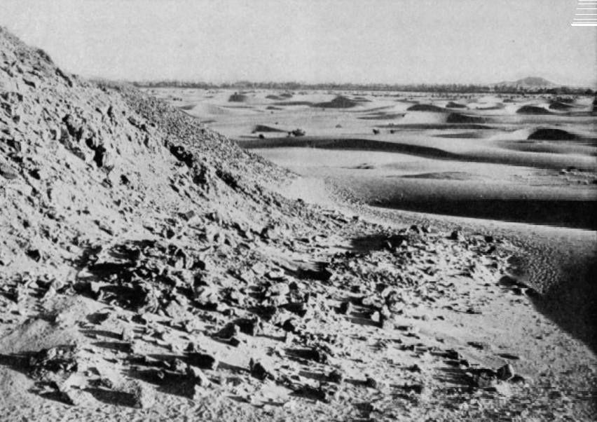 "The Sand Dunes, ""south"" (upstream) From The Pyramid Field"
