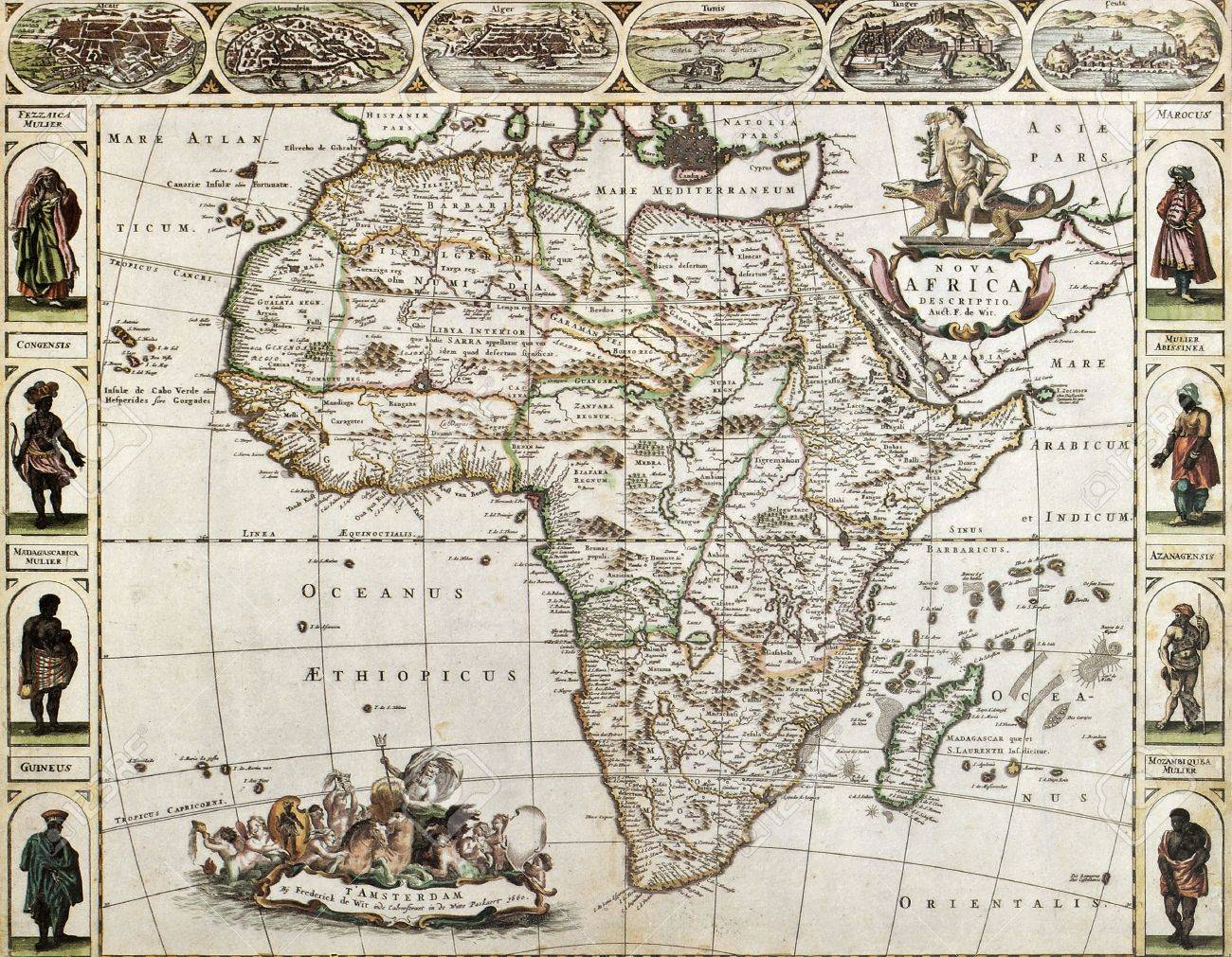 Africa-old-map-created-by-frederick-de-wit-published-in-amsterdam-1660