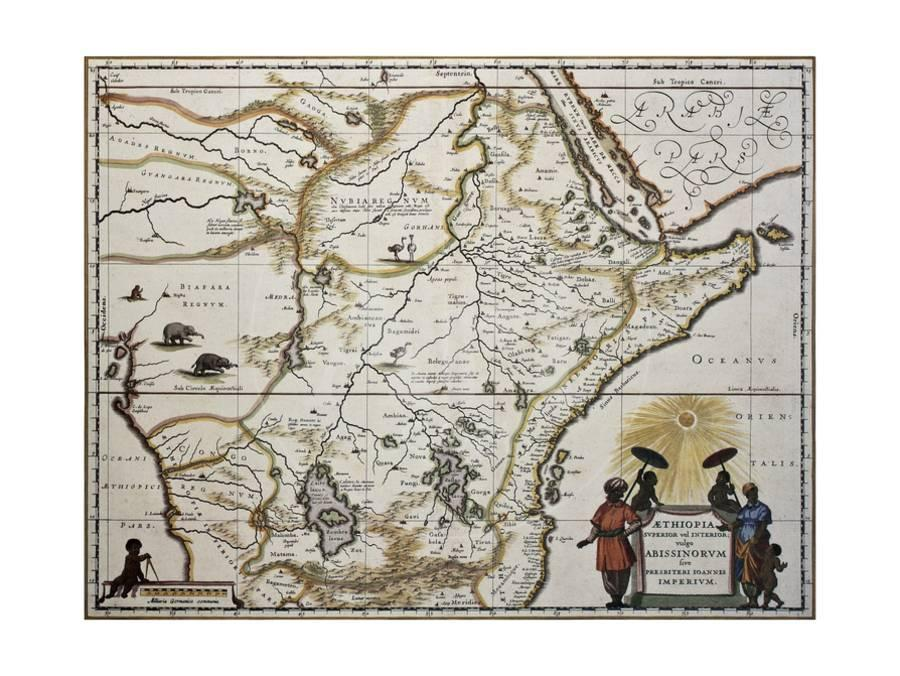 Ethiopia-old-map-created-by-joan-blaeu-published-in-amsterdam-1650 U-l-pn0git0