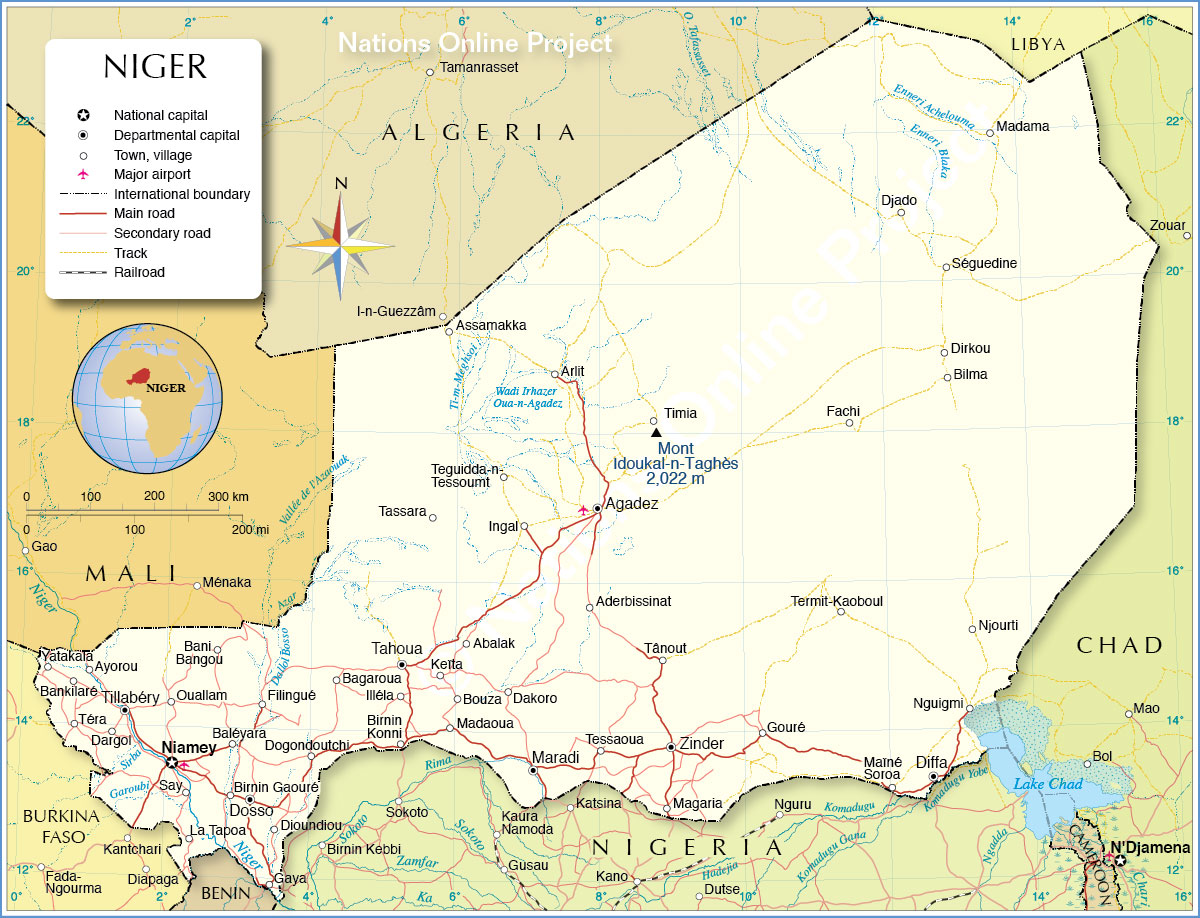 Niger-political-map