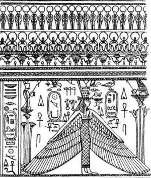 Drawings Of The Designs On Two Gold Cylinders, From The Tomb Of Aspalta