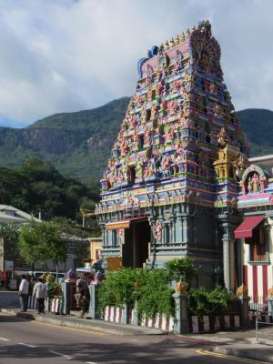 Hindu Temple Victoria Seychelles Islands Of Africa