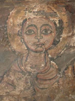 Figurative wall paintings, which are confined to two bays in the north of the church, are remarkable for  their quality, style and iconography, showing connections with Coptic Egypt and other influences. Image WMF