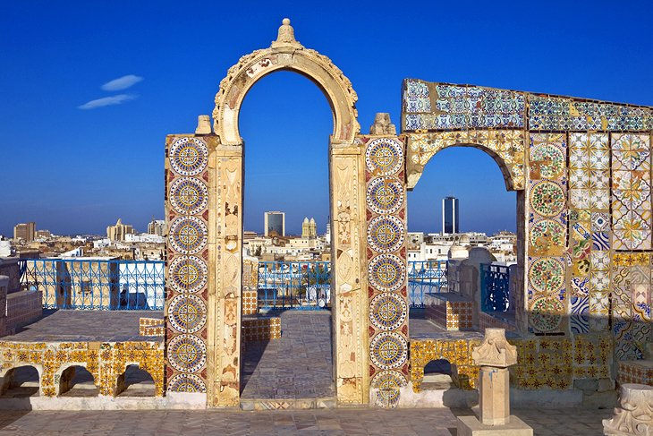 Tunisia-tunis-olive-tree-mosque-rooftop-terrace