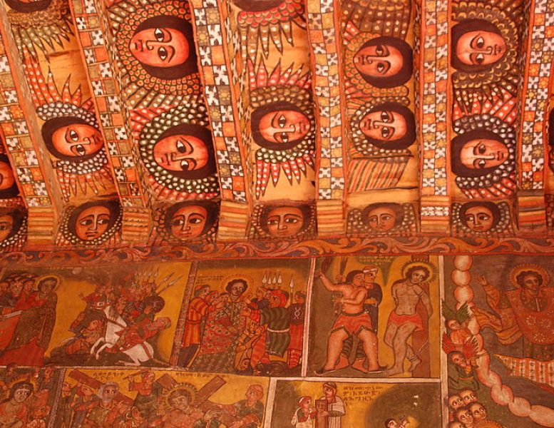 Debre Birhan Selassie Church interior
