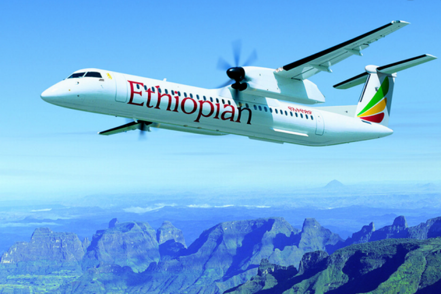 Dash 8 turboprop airliners ethiopia