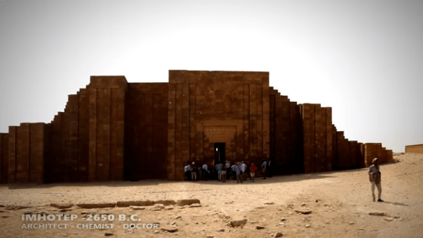 The precision between the blocks of Egyptian pyramids