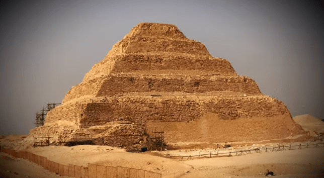 Egyptians had acquired the technique which they used for the 1st pyramid of Djoser