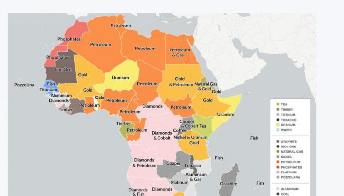 Africa' mineral treasure by country